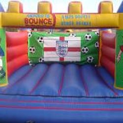 15x15 Football castle ideal for kids upto the age of 14. £70 per day.