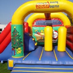 15ft x 17ft Castle, Slide, Biff Bash Activity Bouncer.