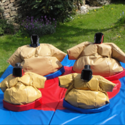 Adults and kids sumo suits with standard mats
