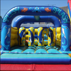 15x15ft dolphin activity castle £75 per day