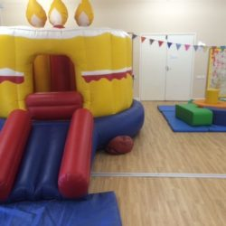 10x10 birthday cake castle £65 per day. Can be used as a ball pond for an extra £10